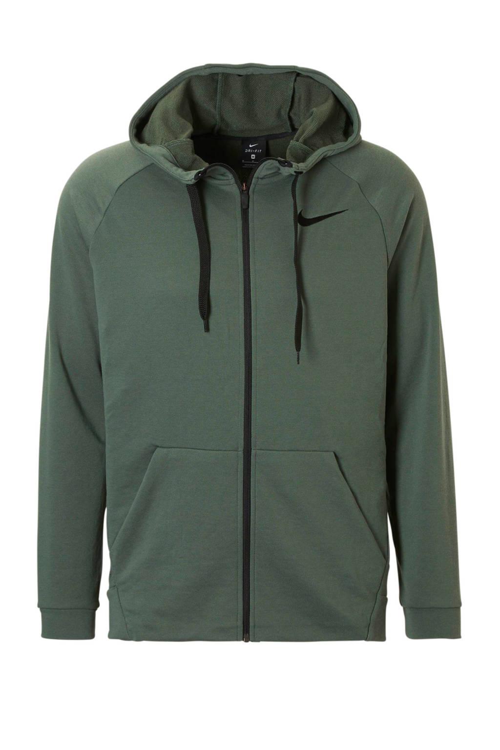 Nike   sportvest donkergroen, Donkergroen/zwart