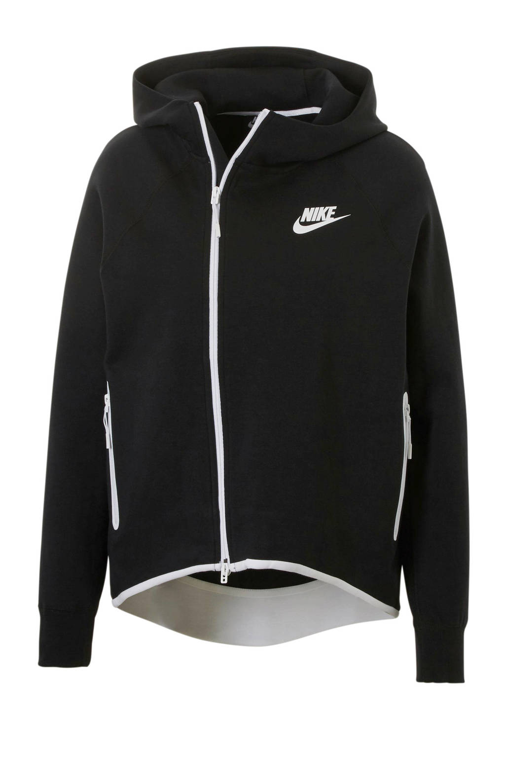 Nike Tech Fleece vest zwart, Zwart/wit