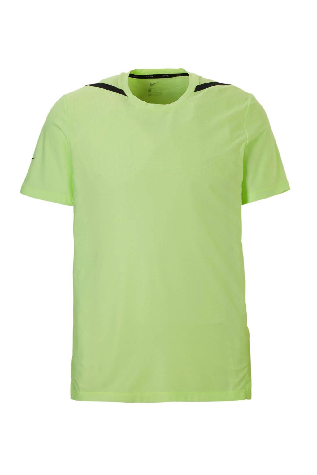 Nike   sport T-shirt neongeel, Neongeel