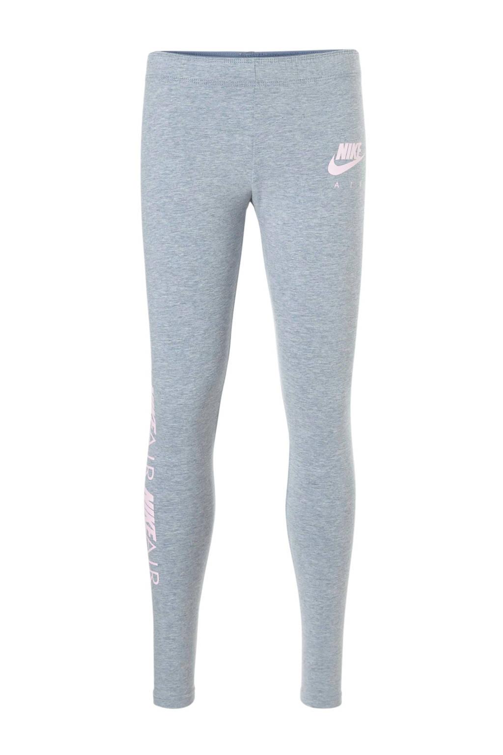 Nike legging grijs, Grijs melange/roze
