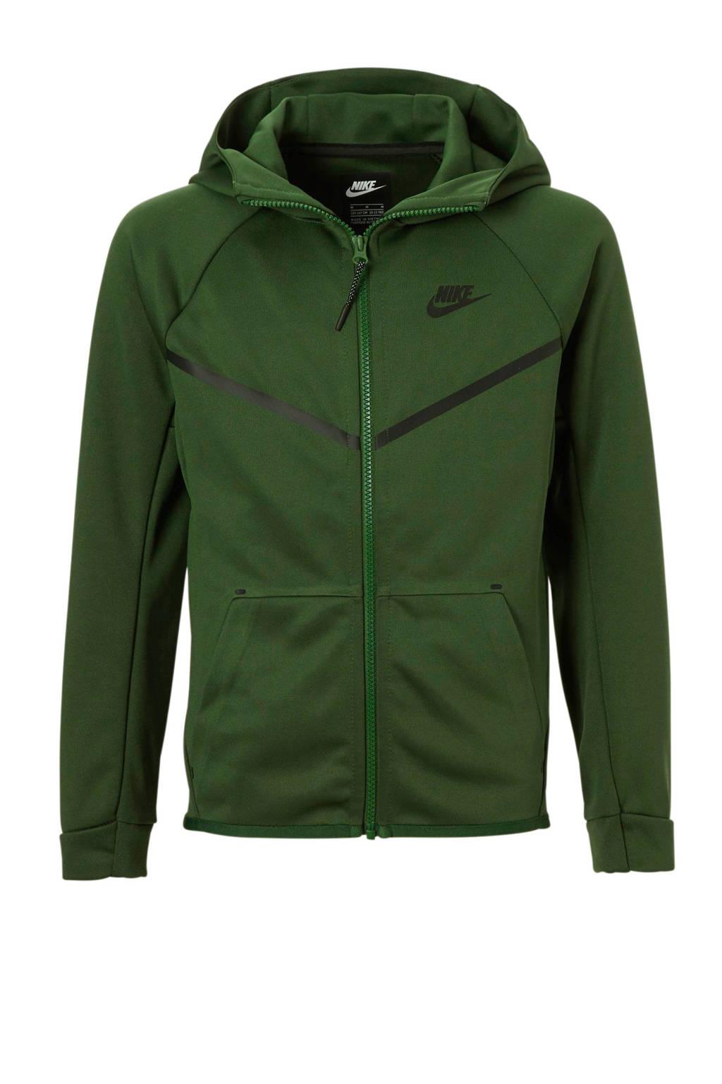 Nike   vest groen, Groen/zwart