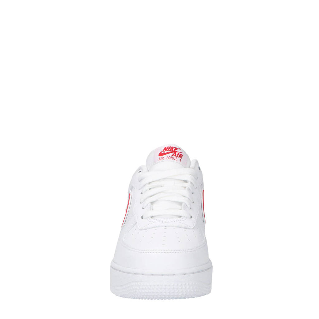 d44b77cb2b5 Nike Air Force 1 '07 3 sneakers leer wit/rood, Wit/rood