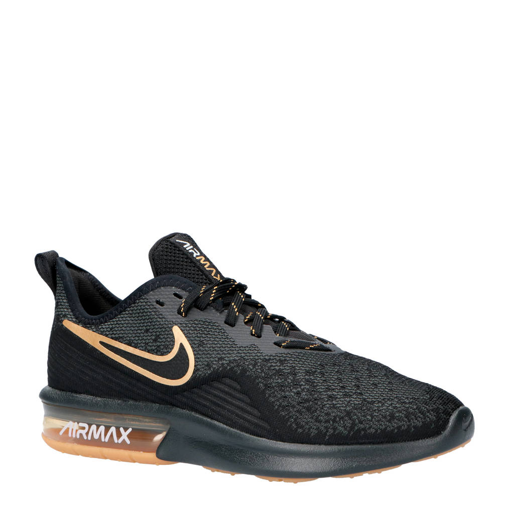 Nike  Air Max Sequent 4 sneakers, Zwart/antraciet/goud