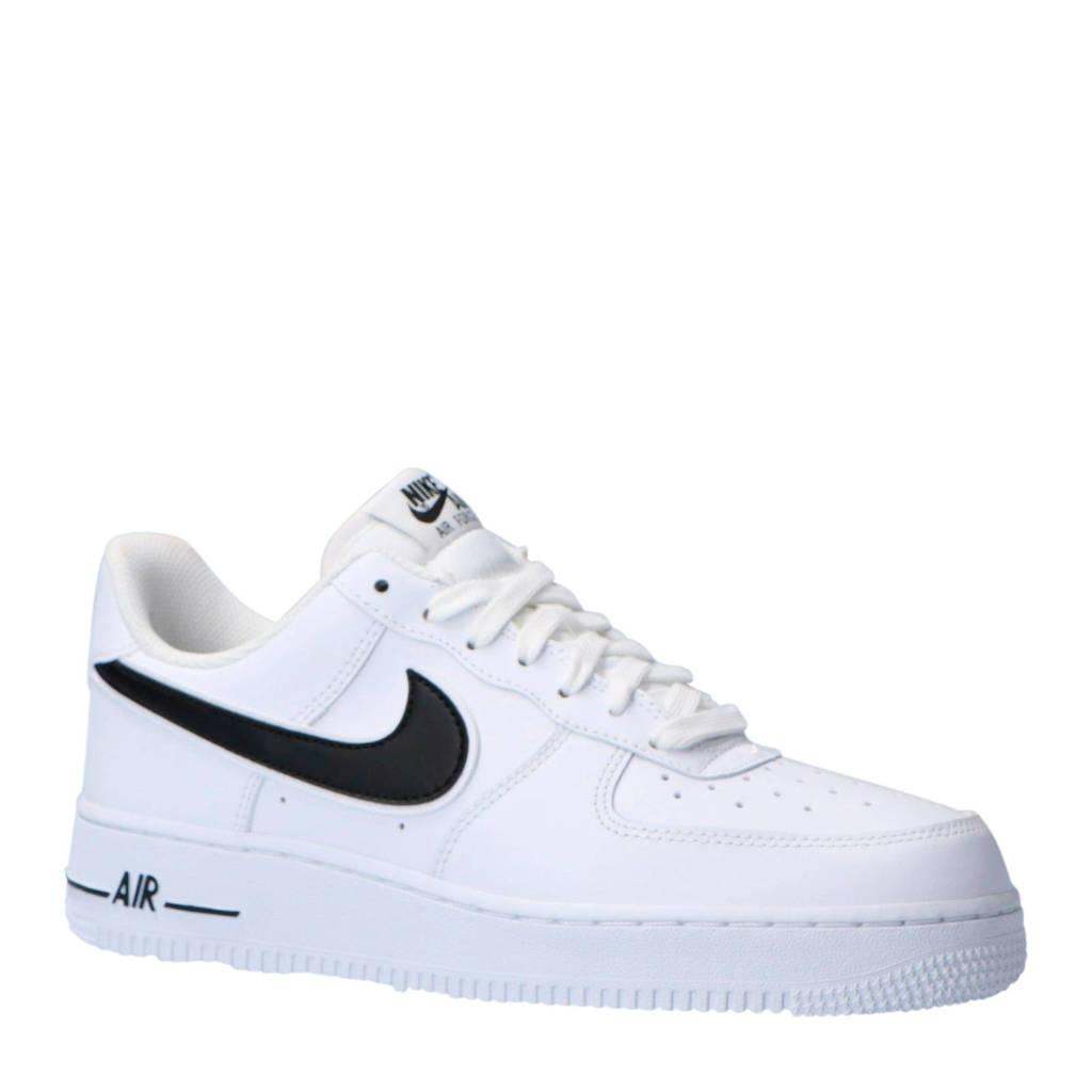 Nike  Air Force 1 '07 3 sneakers leer wit/zwart, Wit/zwart