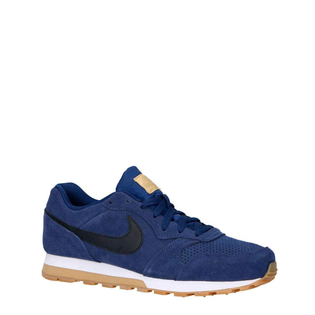 Nike  MD Runner2 suede sneakers blauw/zwart, Blauw/zwart