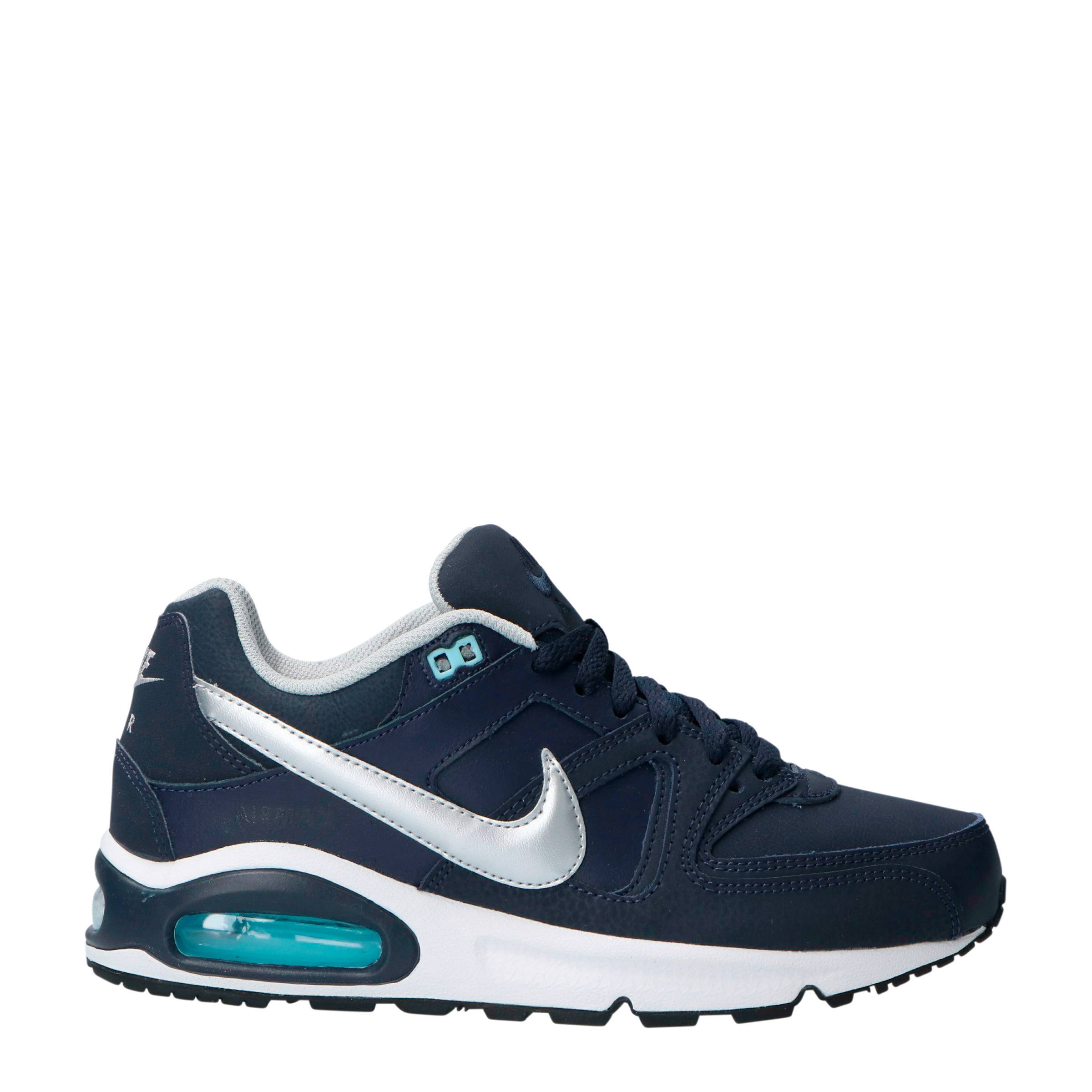 Air Max Command Leather sneakers blauw/zilver