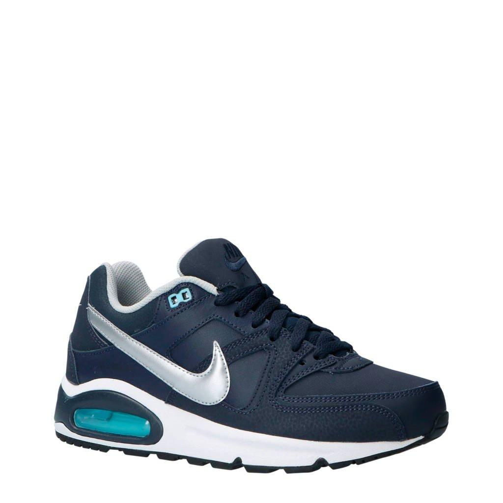 Nike  Air Max Command leren sneakers blauw/zilver, Donkerblauw/zilver
