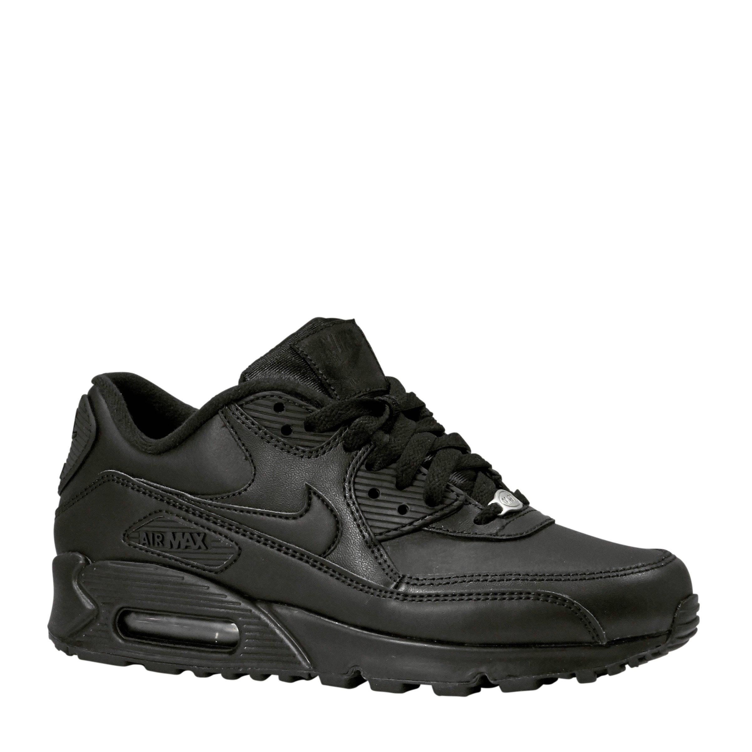 Nike Air Max 90 Leather leren sneakers zwart | wehkamp