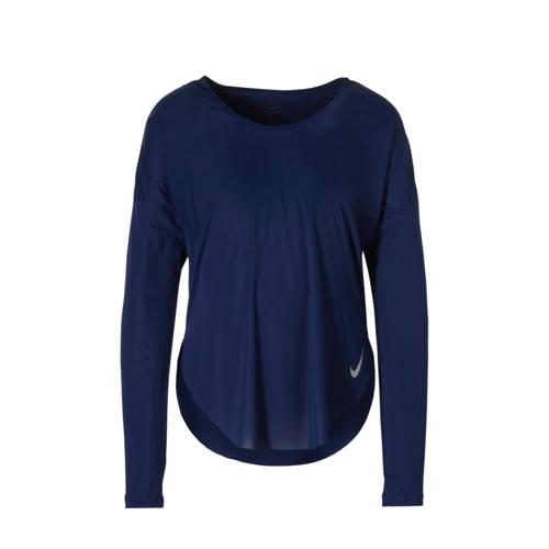 Nike sport T-shirt donkerblauw kopen