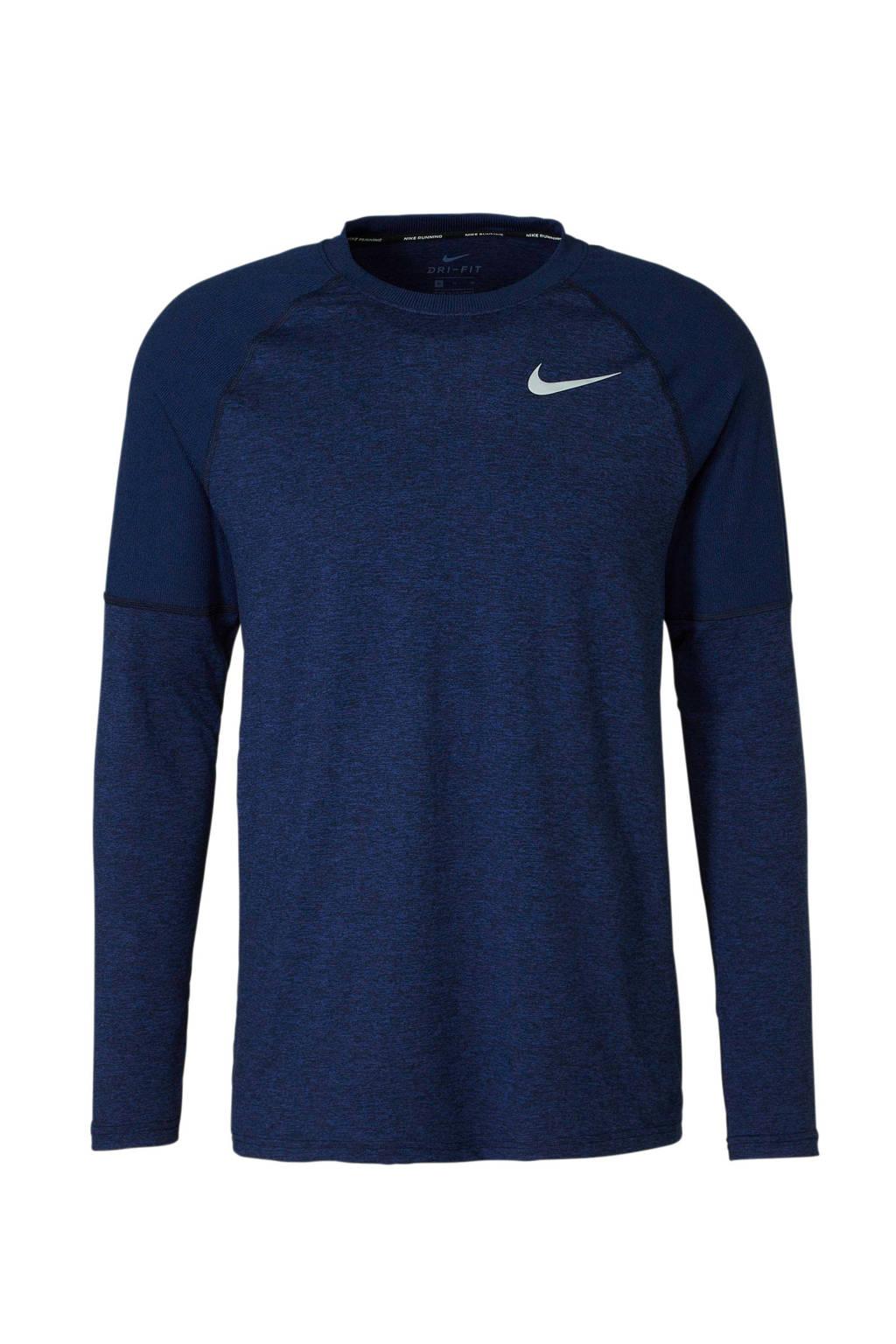 Nike   hardloop T-shirt, blauw melange