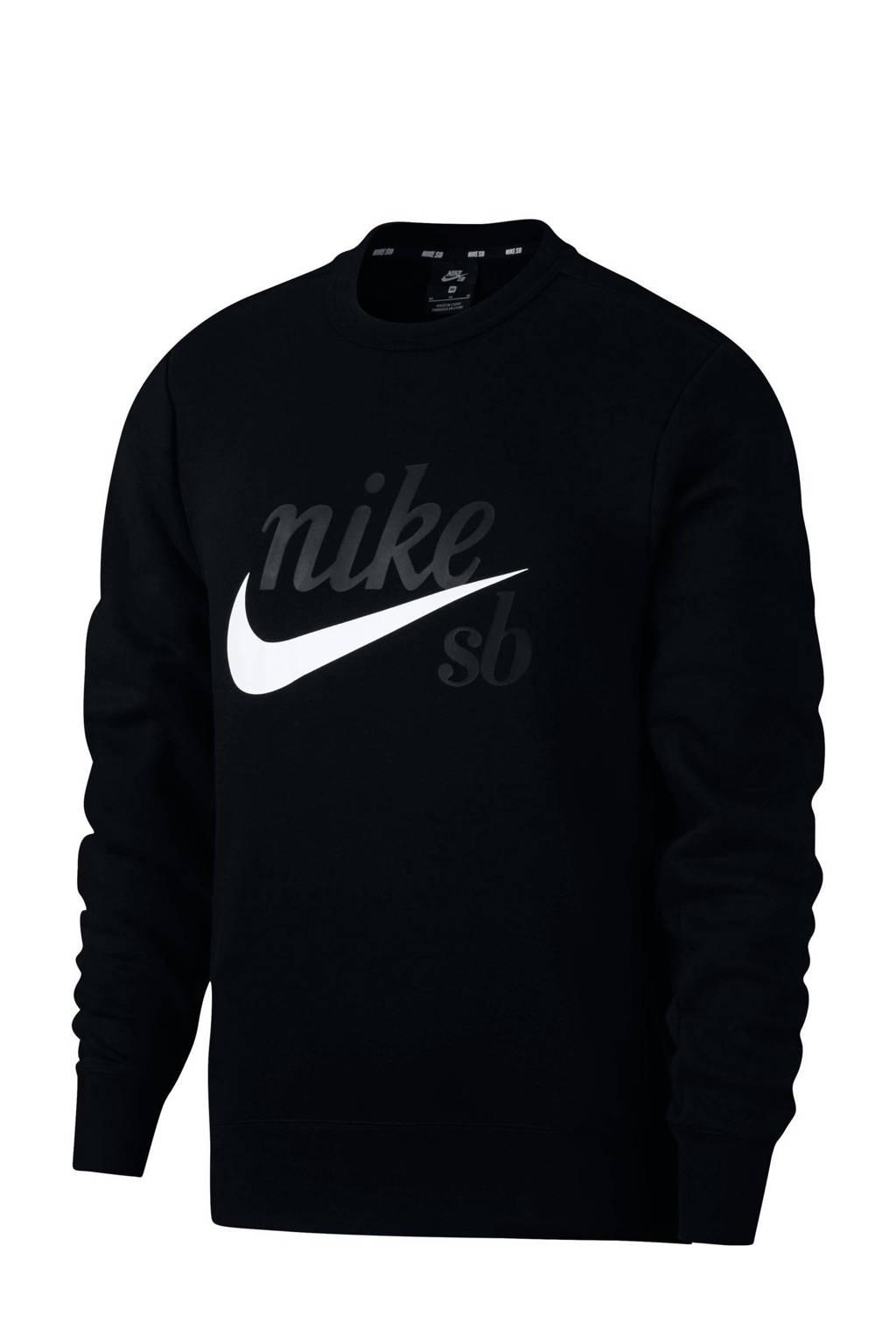 Nike   sportsweater met printopdruk zwart, Zwart