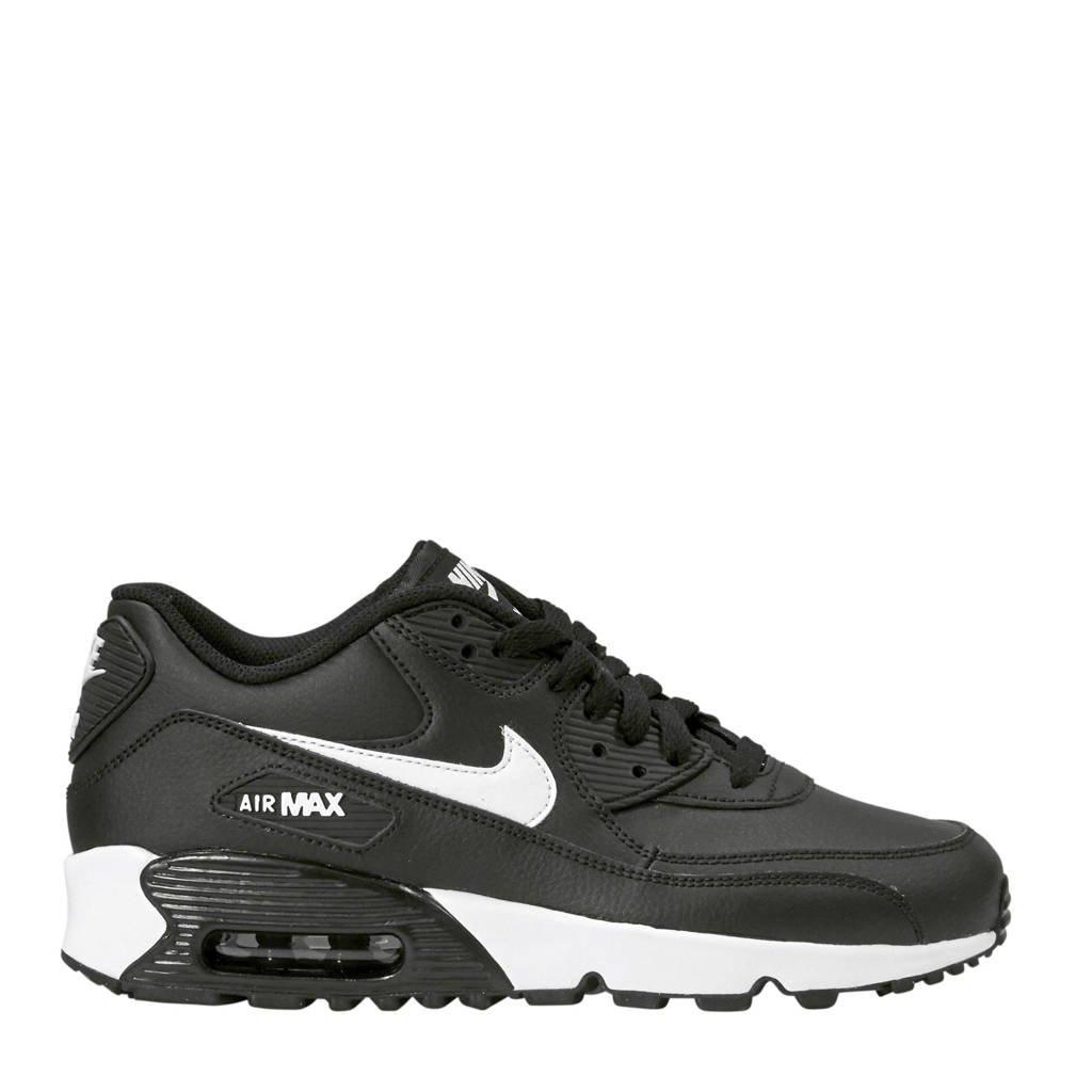 Nike  Air Max 90 Ltr (GS) zwart, Zwart/wit