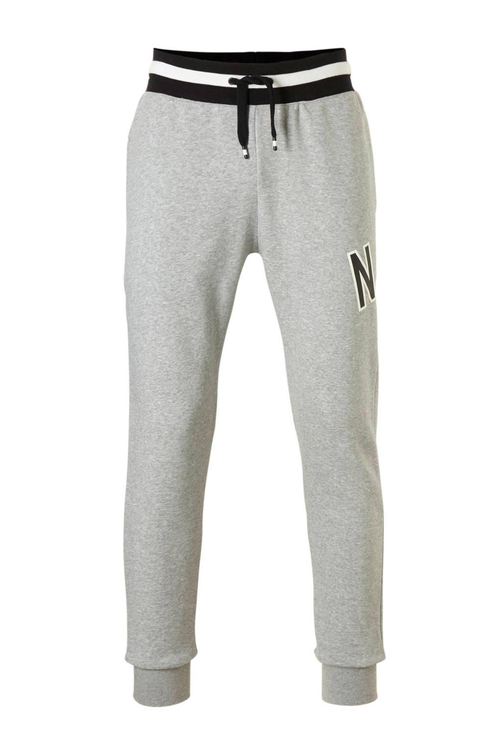 Nike joggingbroek grijs melange, Grijs melange/zwart