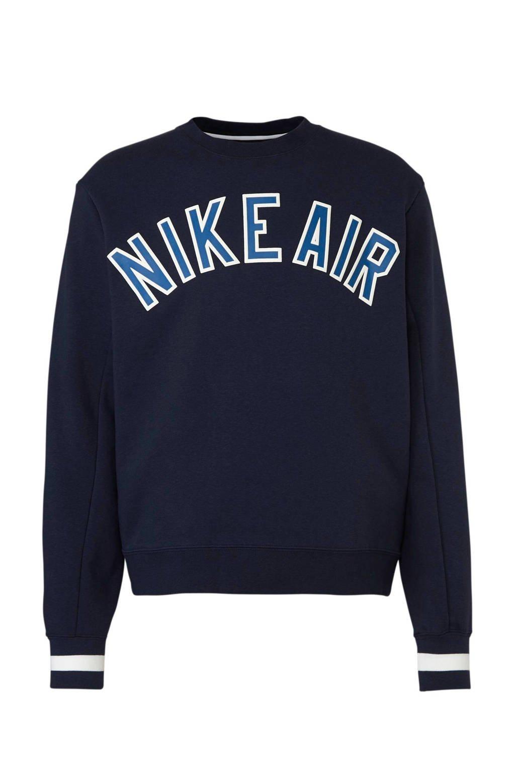 Nike   sportsweater met printopdruk donkerblauw, Donkerblauw