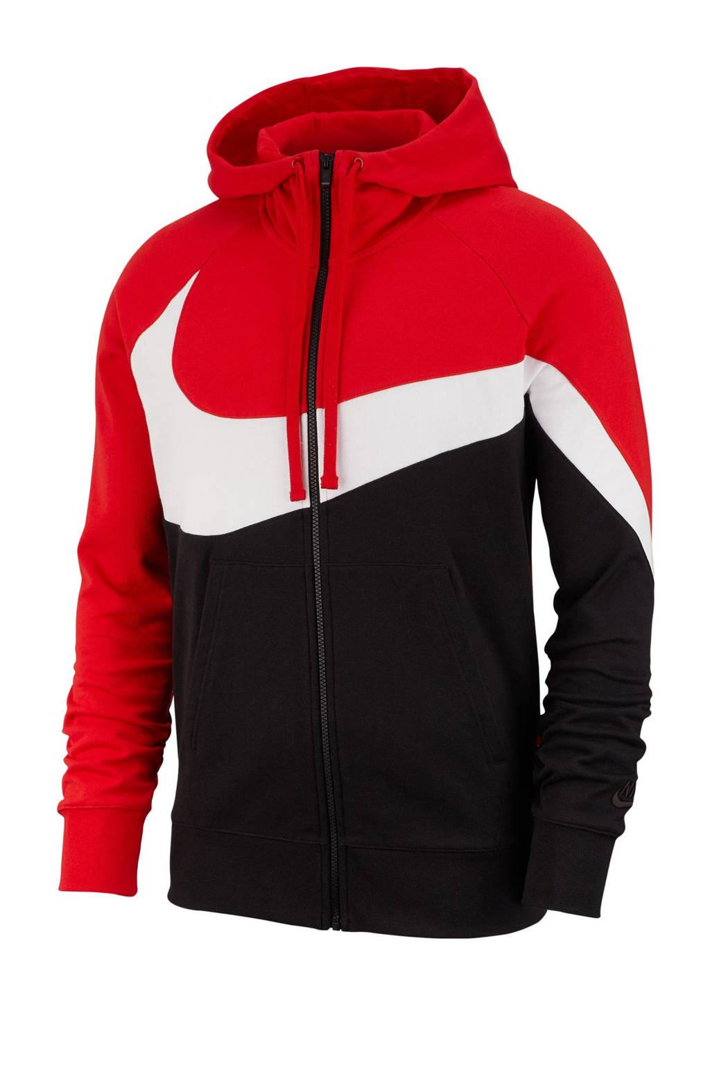 Nike   vest rood, Rood/wit/zwart