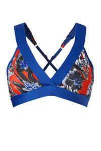 Nike / Nike sportbh met all over print blauw/rood