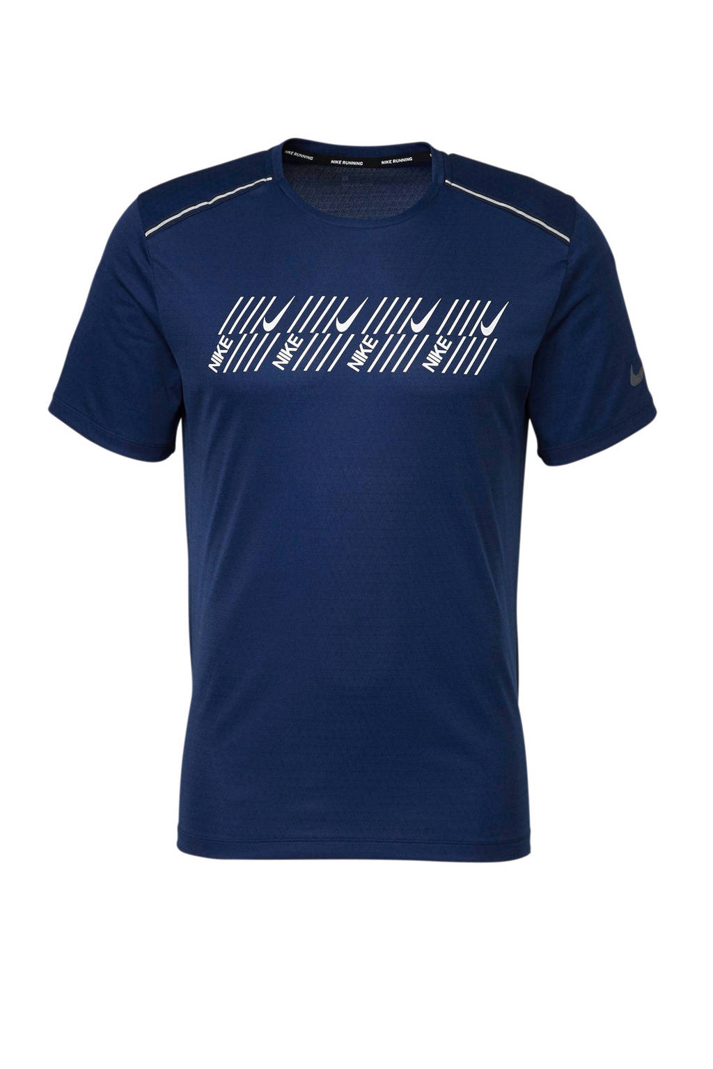 Nike   harloop T-shirt, Donkerblauw/wit