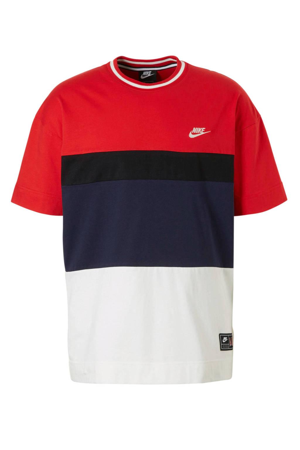 Nike   sport T-shirt, Rood/zwart/donkerblauw/wit