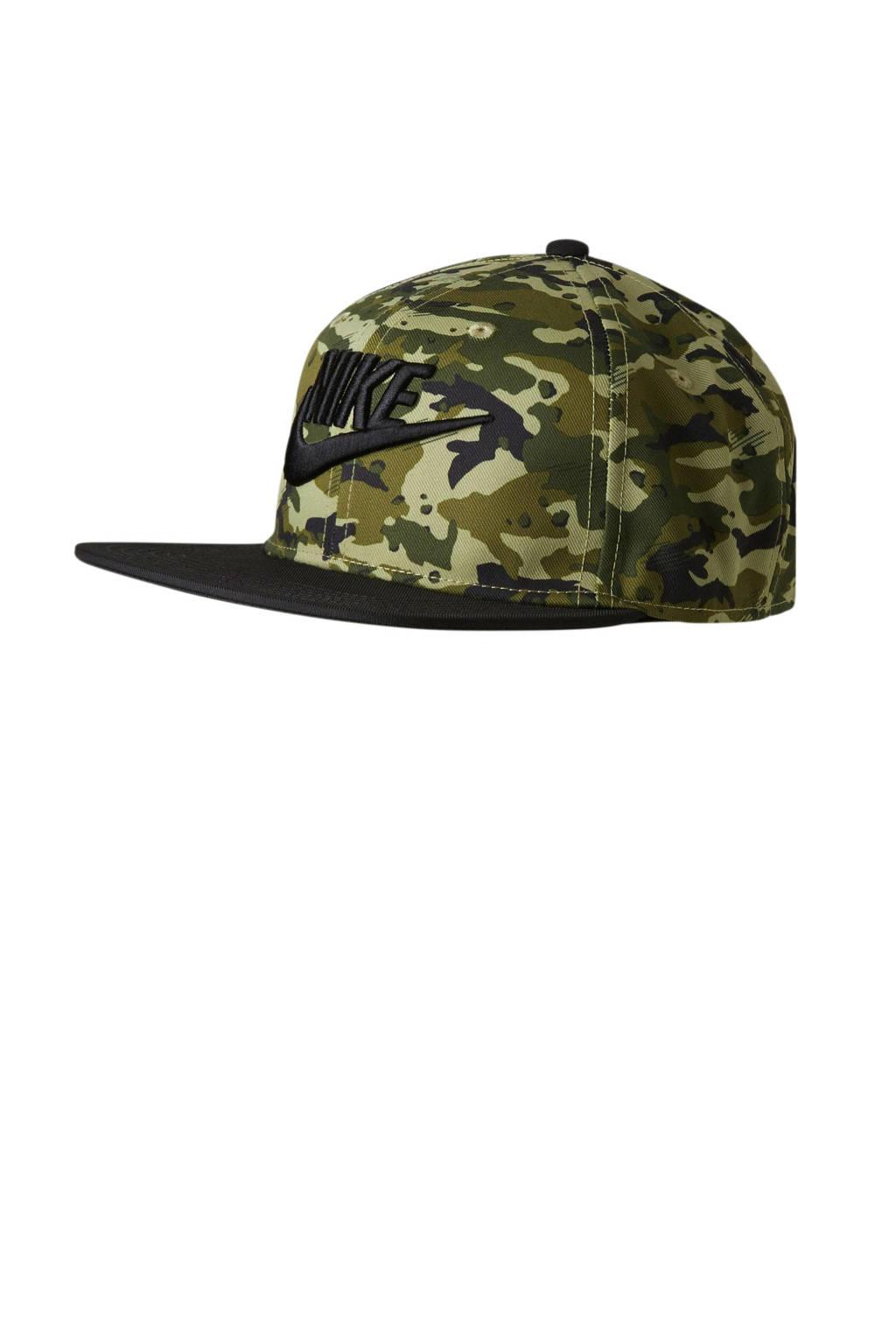Nike pet met camouflageprint, Donkergroen
