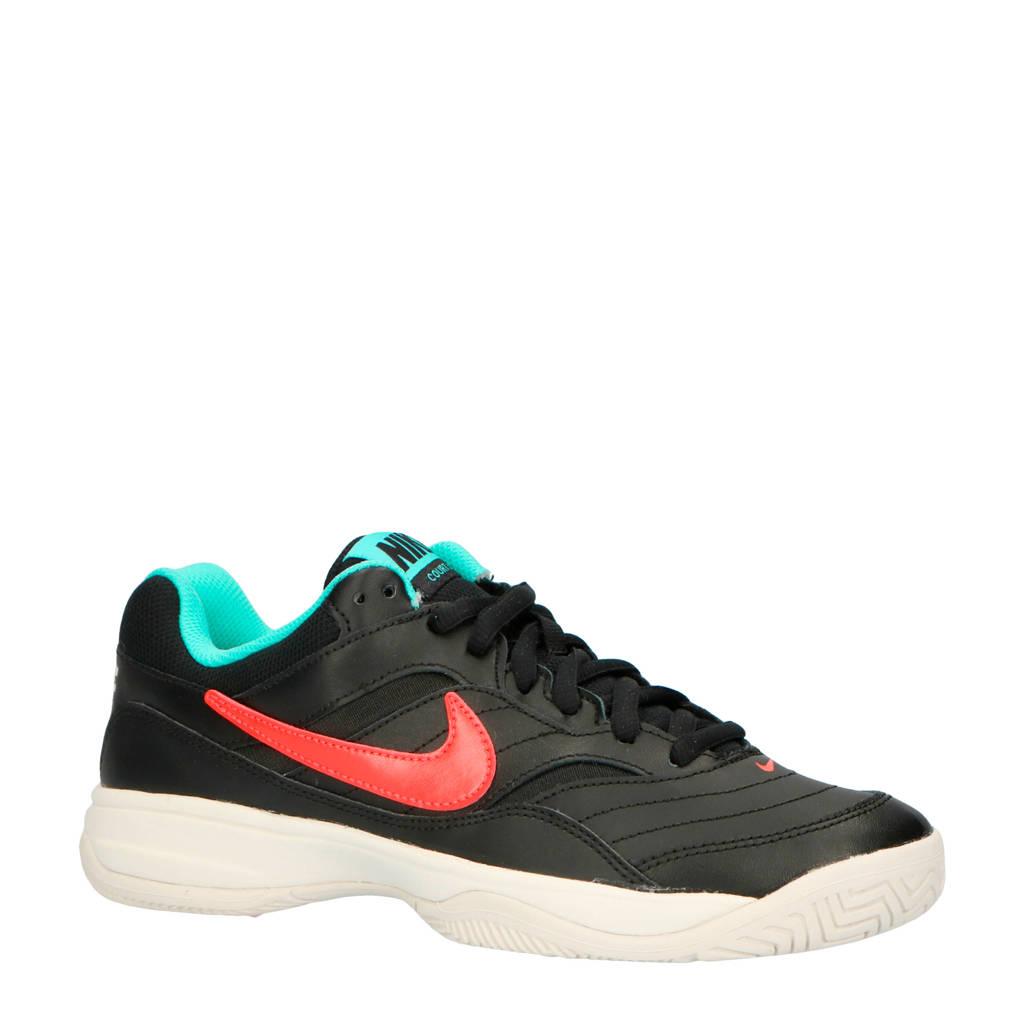 Nike Court Lite tennisschoenen, Zwart/roze/groen