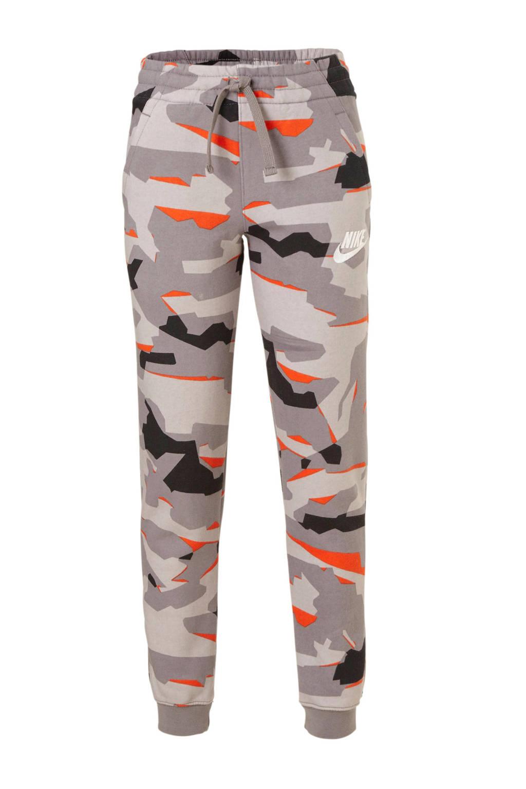 Nike   joggingbroek camouflage grijs, Grijs