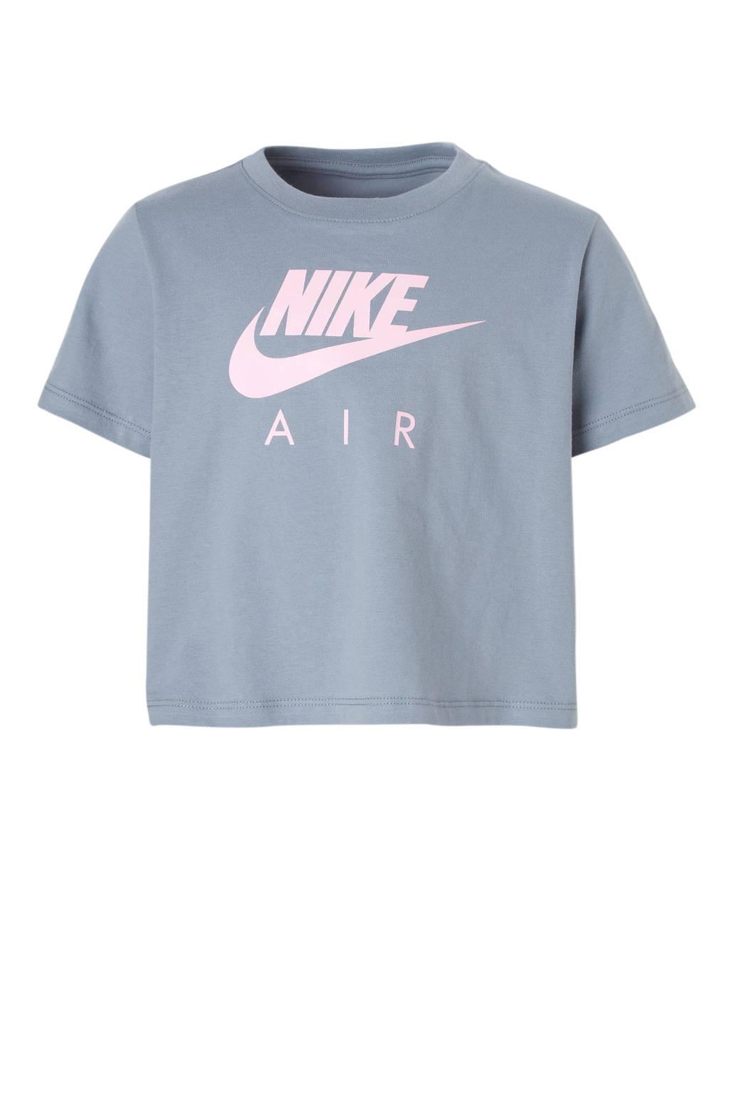 Nike T-shirt met printopdruk lichtblauw, Lichtblauw