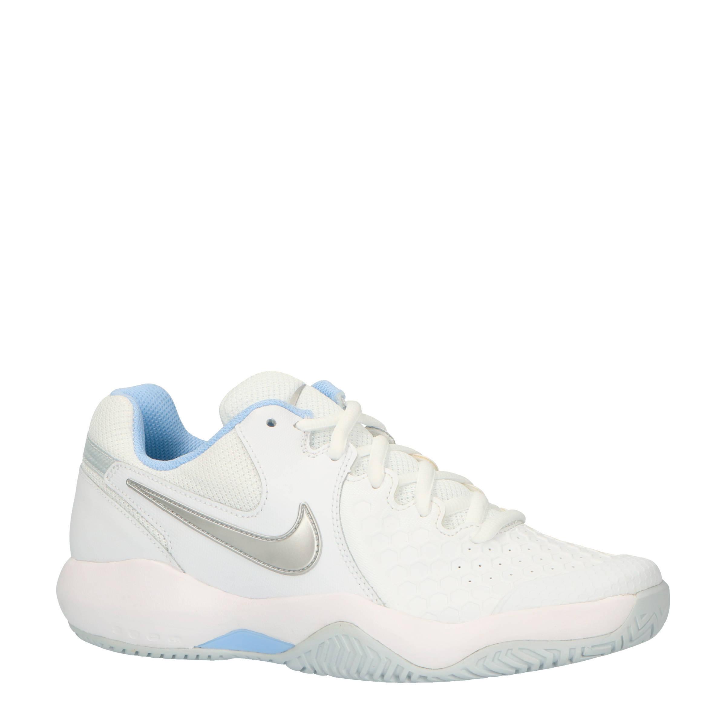 Air Zoom Resistance tennisschoenen wit/zilver