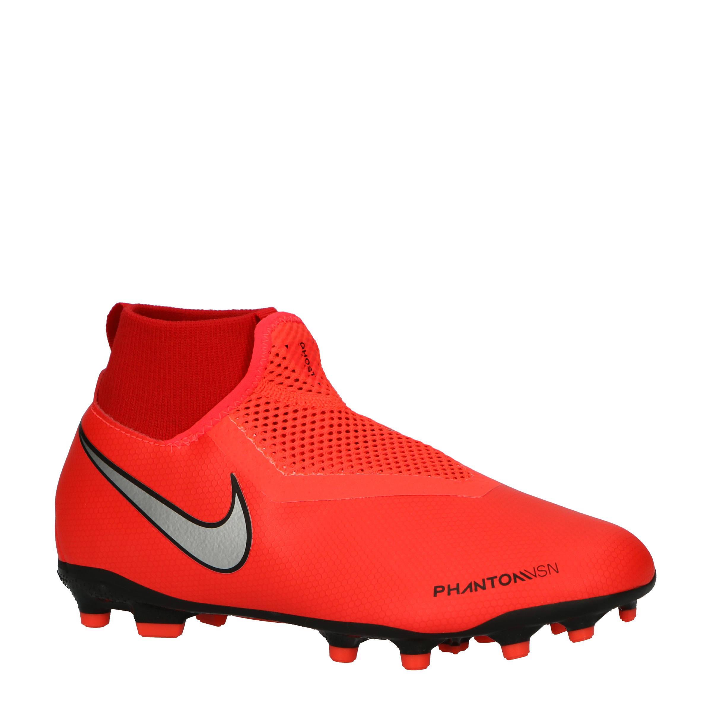 Nike Phantom VSN Academy DF FGMG Jr. voetbalschoenen grijs