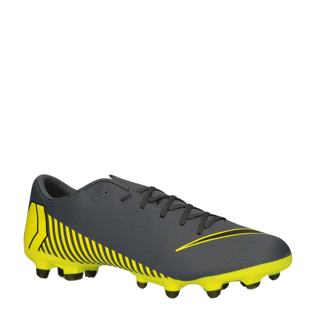 Nike   Mercurial Vapor 12 Academy FG/MG voetbalschoenen, Antraciet/geel