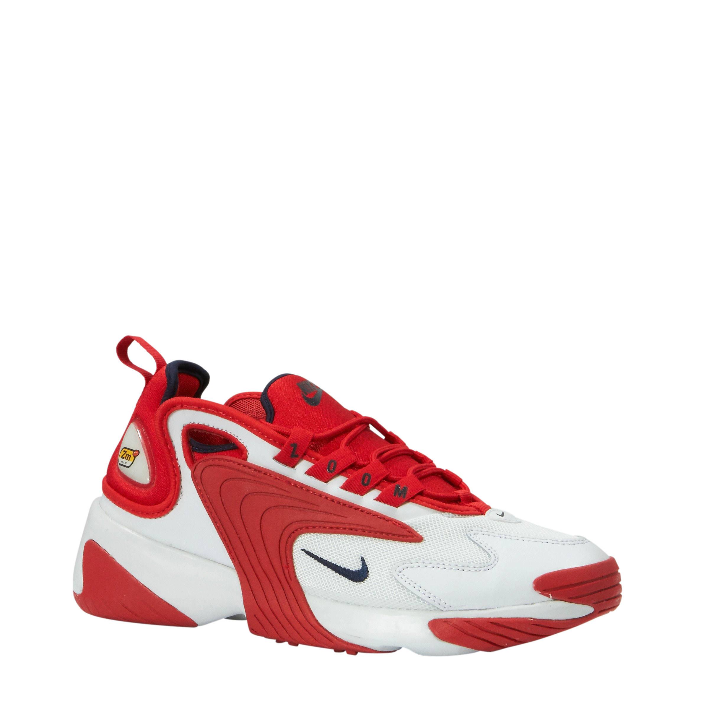 ZOOM 2K sneakers wit/rood
