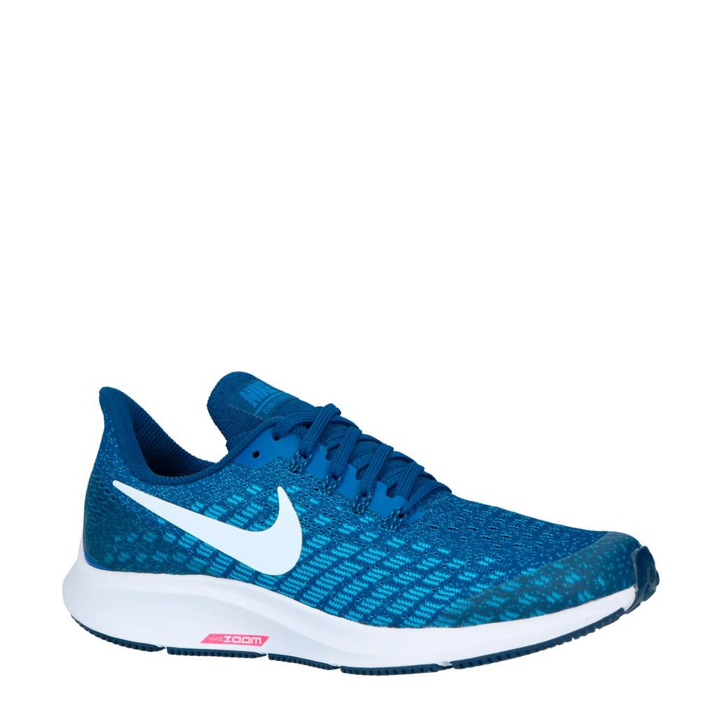 Nike   Air Zoom Pegasus 35 hardloopschoenen blauw kids, Blauw