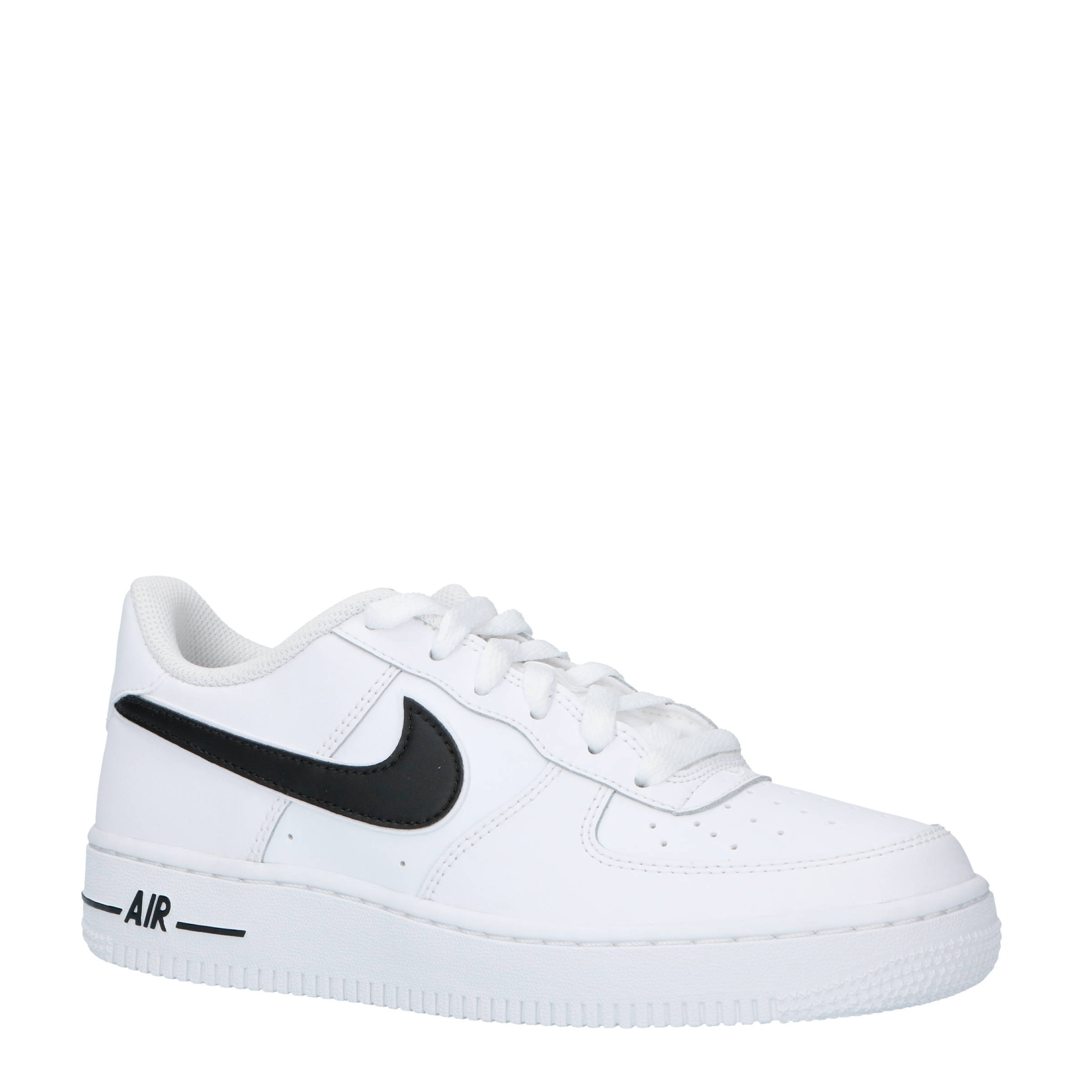 Nike Air Force 1-3 (GS) sneakers leer wit/zwart | wehkamp