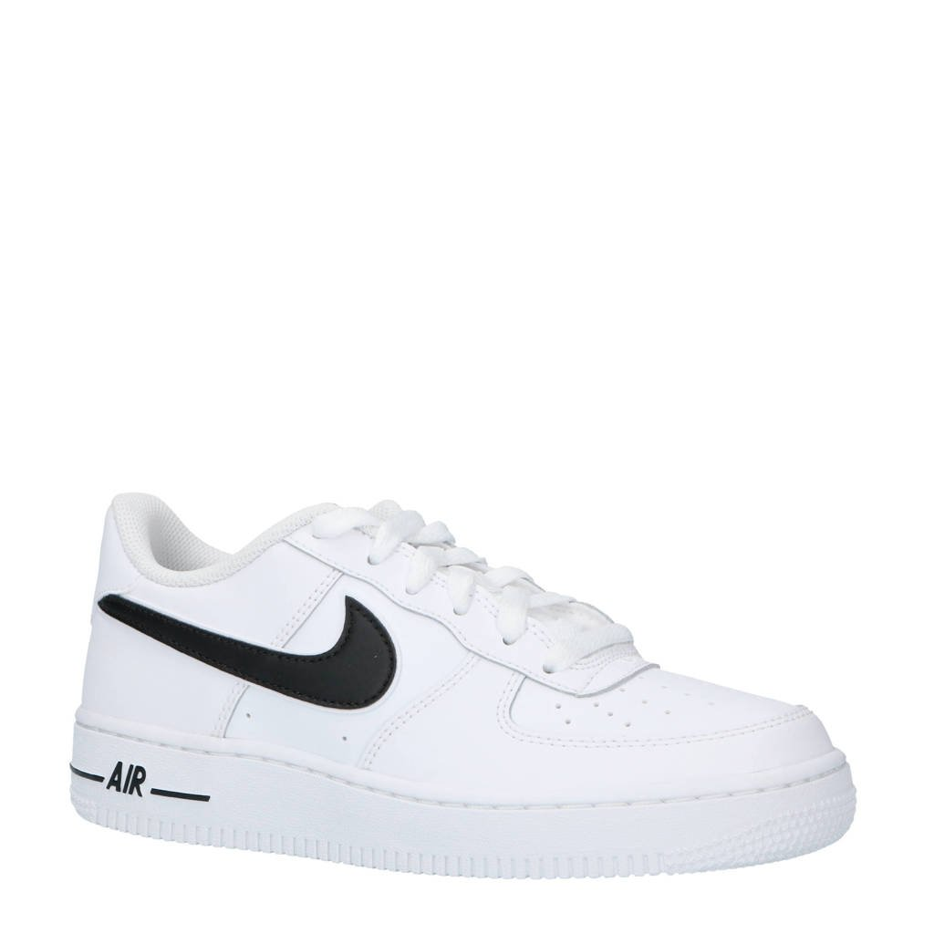 new arrival ab35a 20bf0 Nike Air Force 1-3 (GS) sneakers leer witzwart, Wit