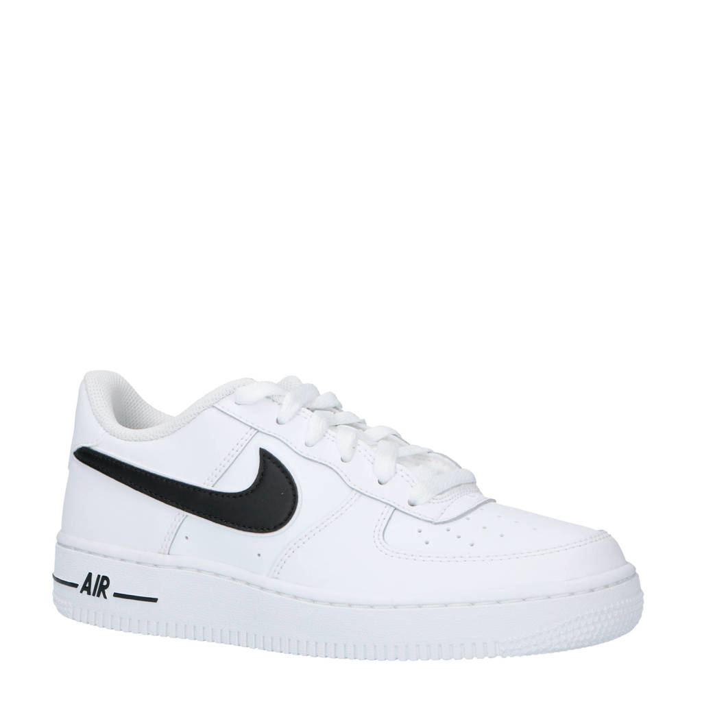 Nike  Air Force 1-3 (GS) sneakers leer wit/zwart, Wit/zwart