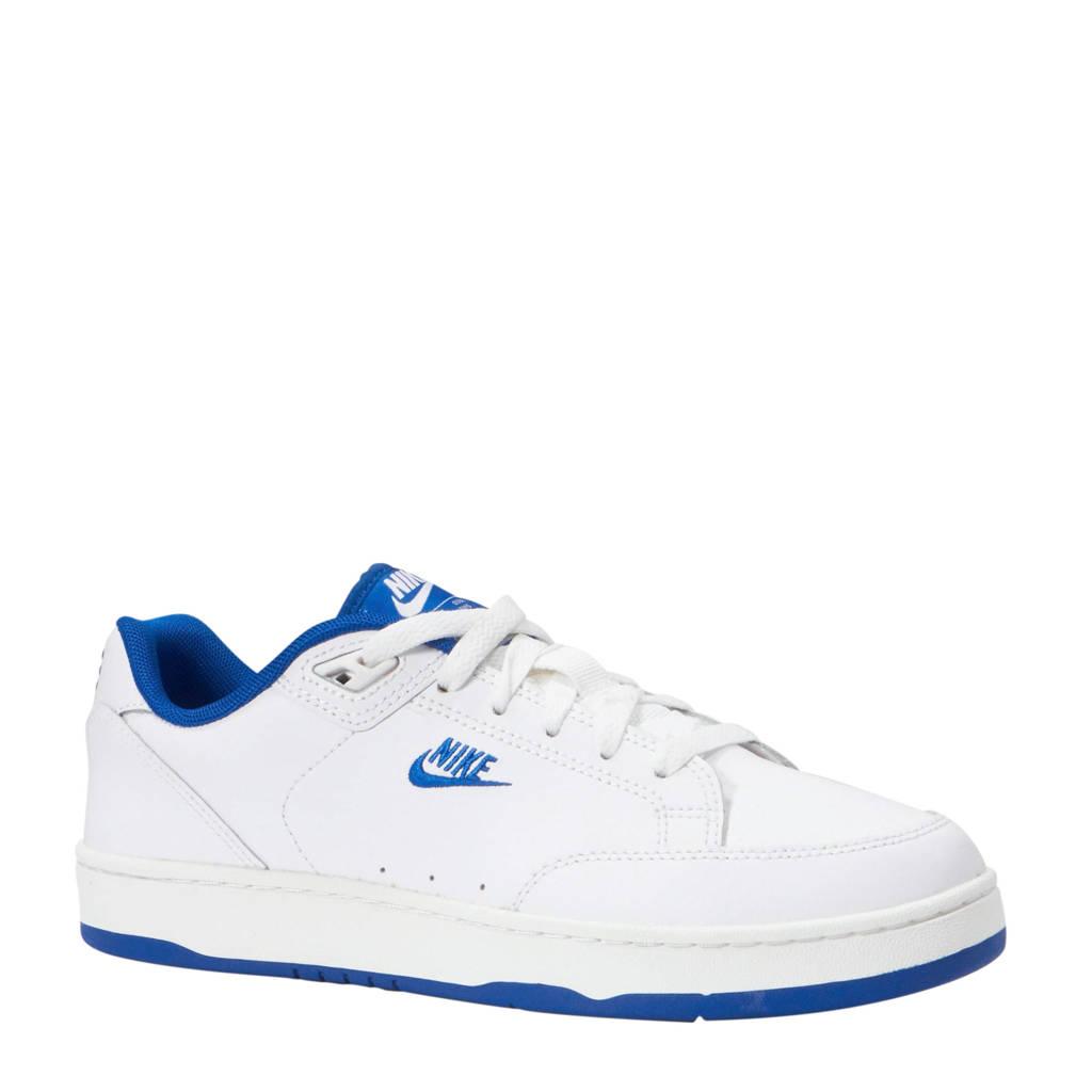 Nike  Grandstand II leren sneakers wit/blauw, Wit/blauw