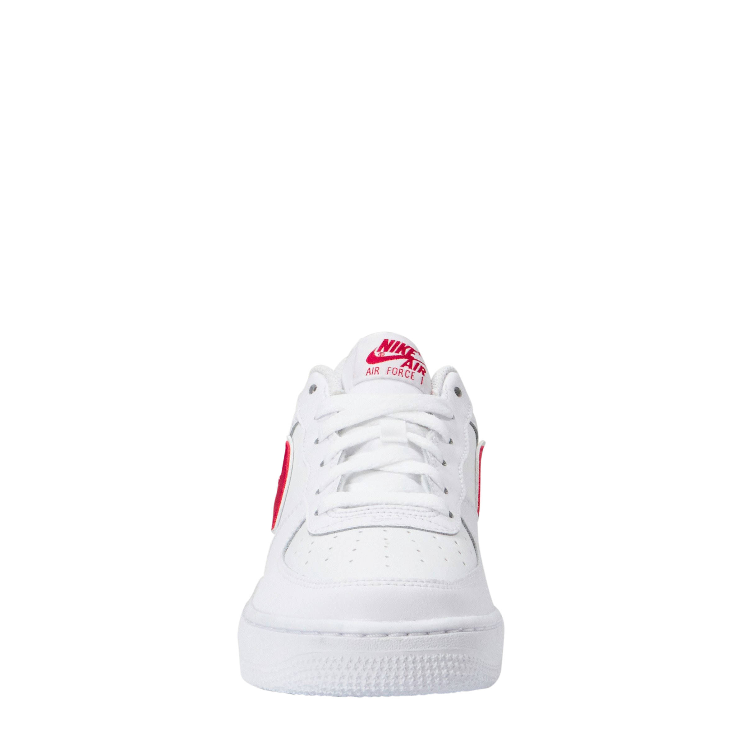 official photos 80c9d 5ca95 Nike Air Force 1-3 (GS) sneakers leer wit rood   wehkamp