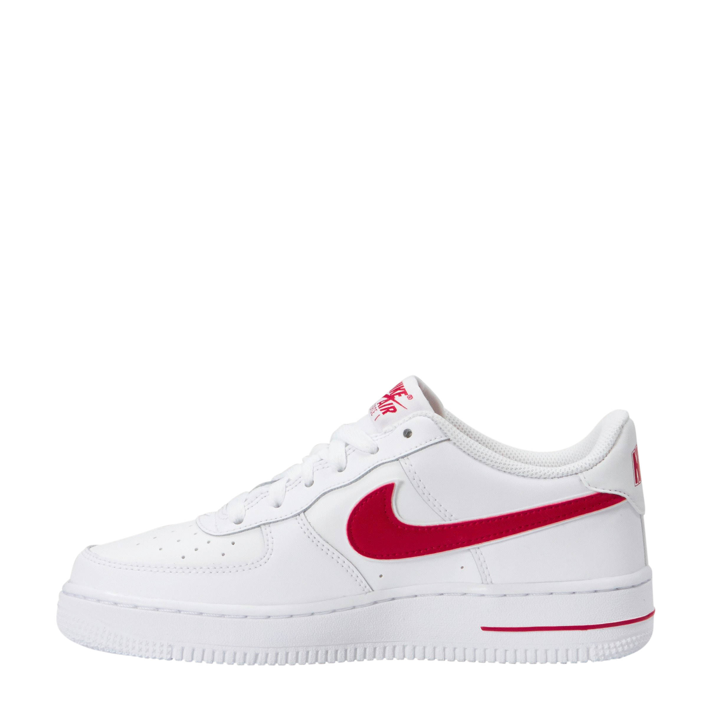 Air Force 1-3 (GS) sneakers leer wit/rood