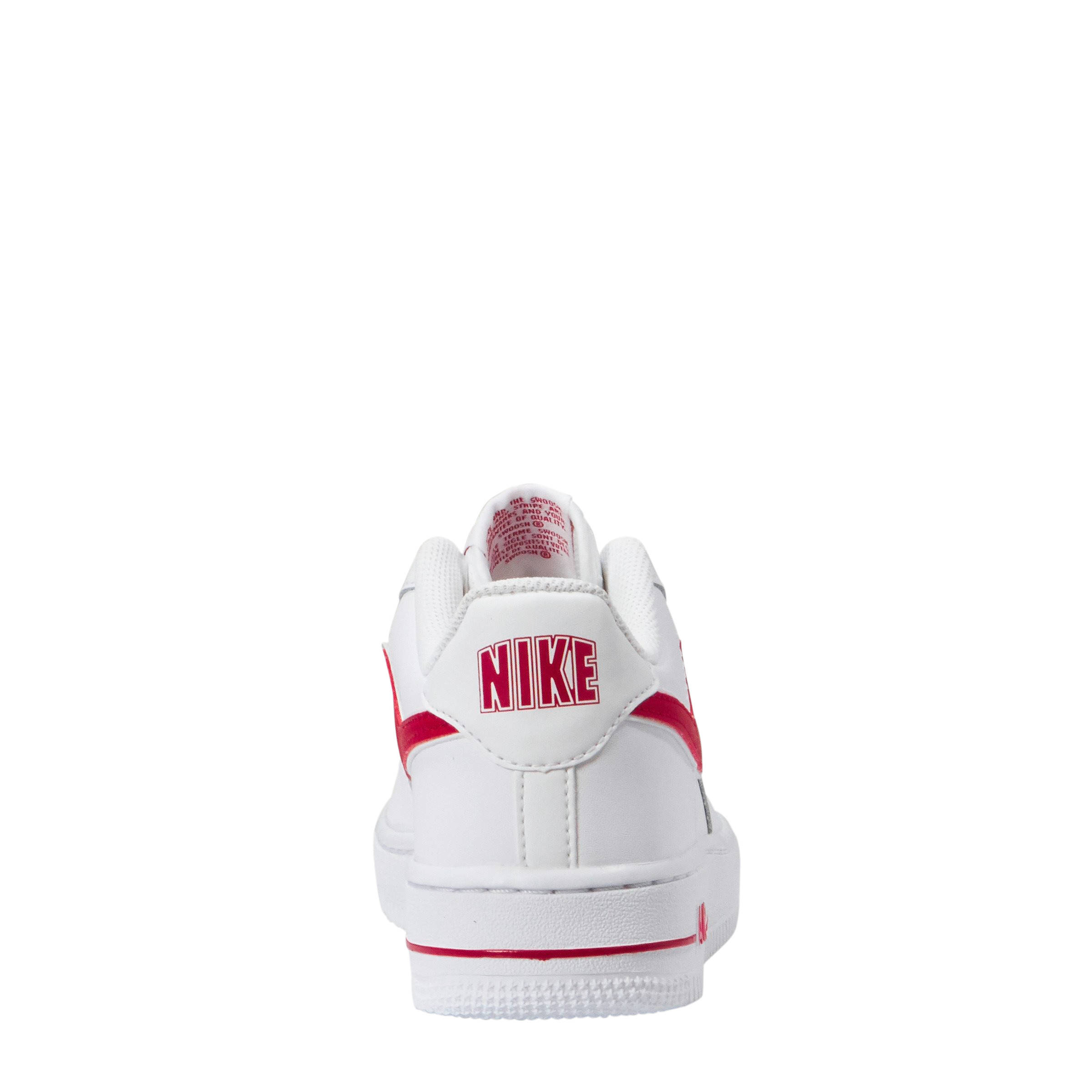 f70dd0e5ce9 Nike Air Force 1-3 (GS) sneakers leer wit/rood | wehkamp
