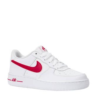 4120ff2d743 Air Force 1-3 (GS) sneakers leer wit/rood