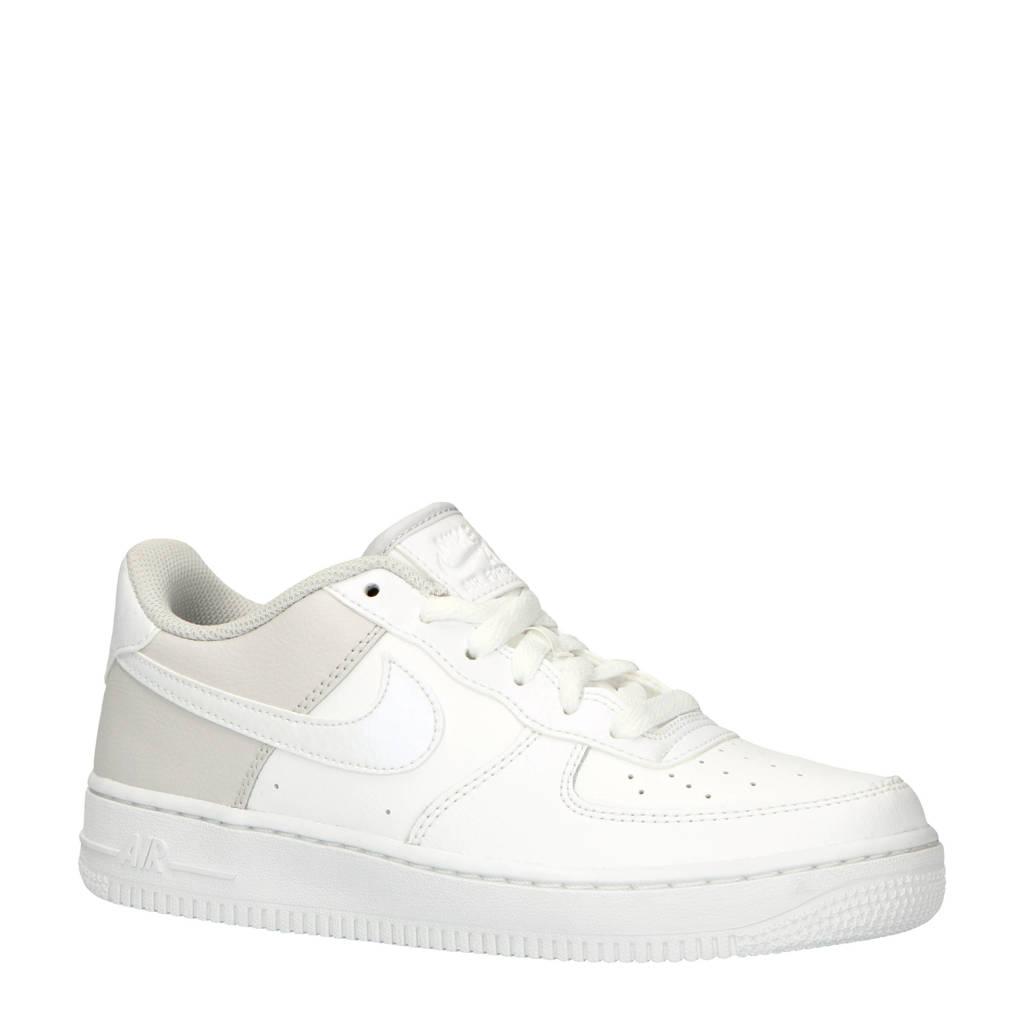 Nike  Air Force 1 sneakers wit/lichtgrijs, Wit/lichtgrijs