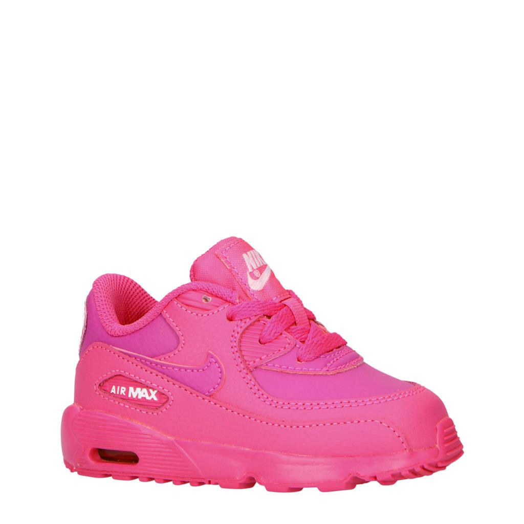 Nike  Air Max 90 leren sneakers fuchsia/paars, Fuchsia/paars
