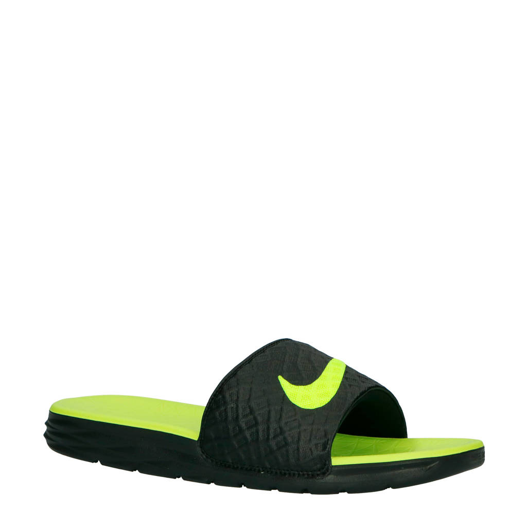 a1bf61b3c55 Nike slippers Benassi Solarsoft zwart/geel, Zwart/geel