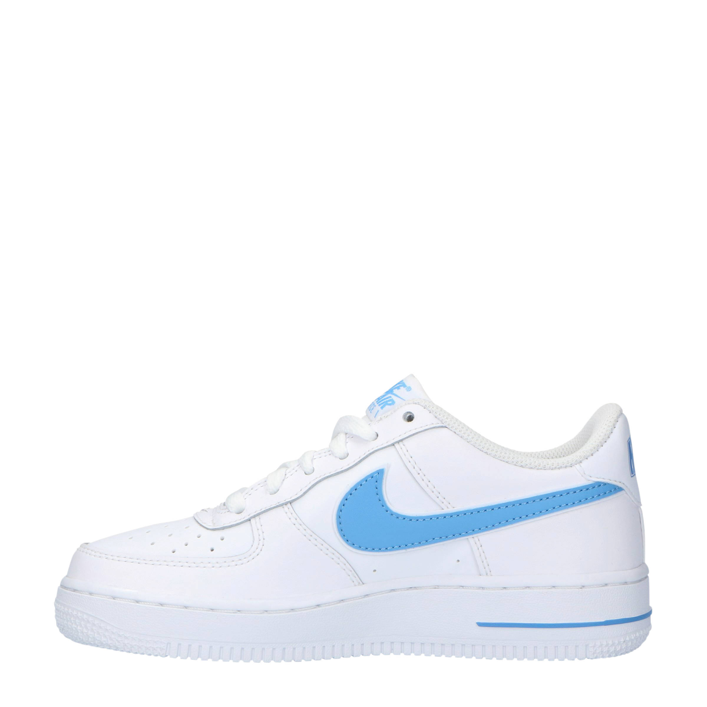 Air Force 1-3 (GS) sneakers leer wit/lichtblauw