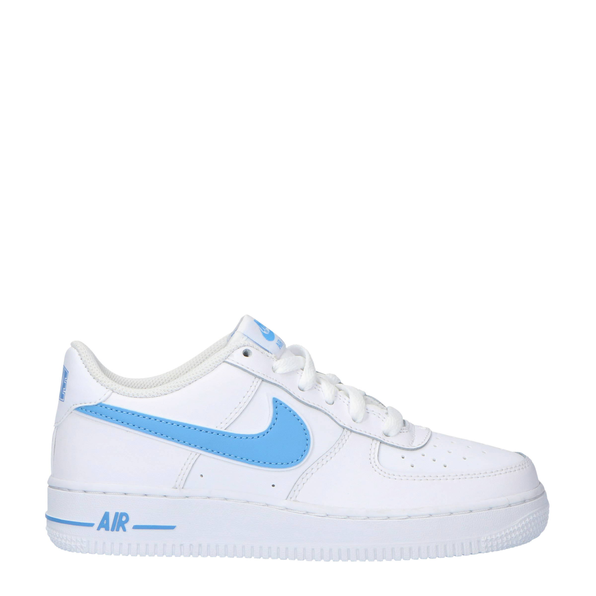 Air Force 1 3 (GS) sneakers leer witlichtblauw