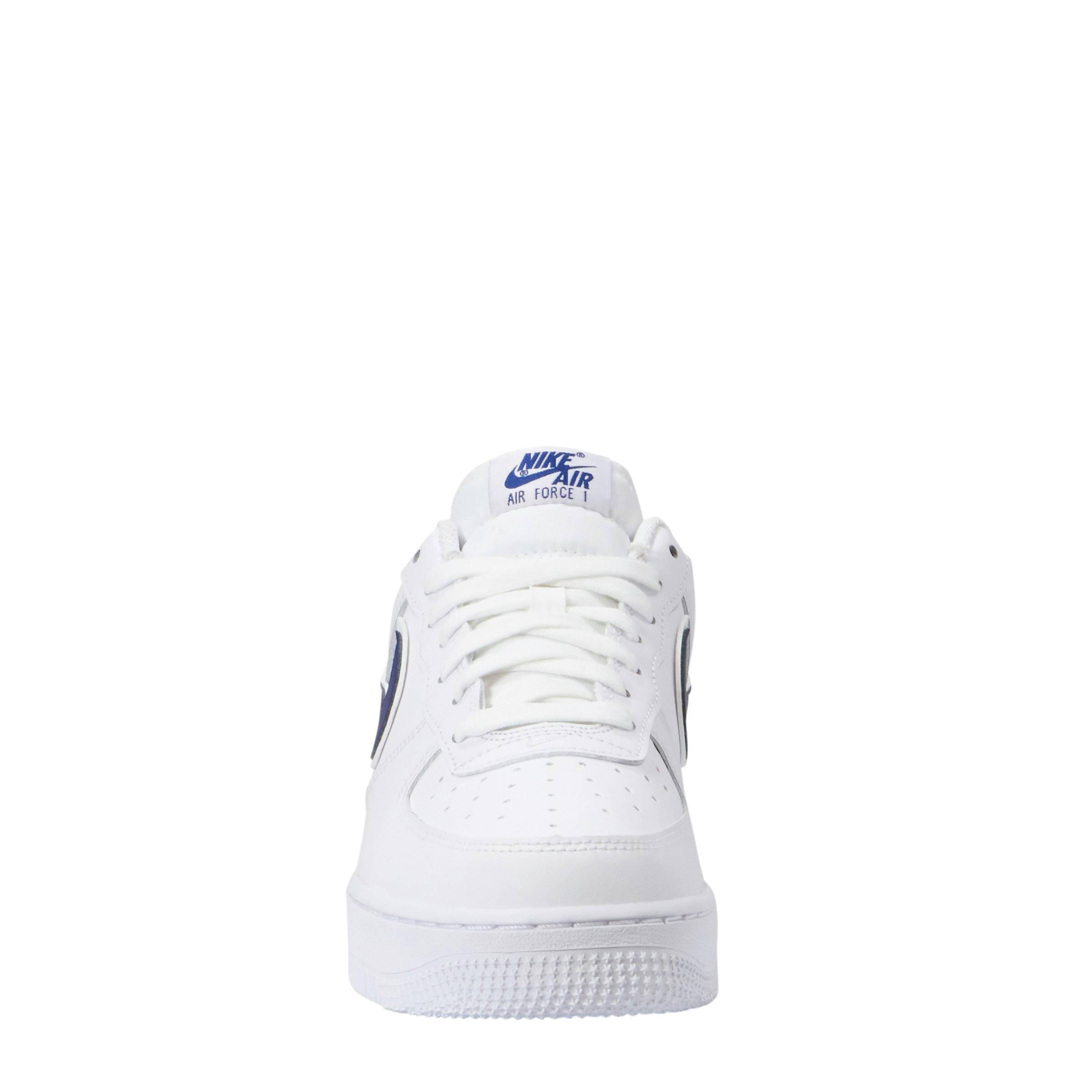 Nike Air Force 1 '07 3 sneakers leer wit/blauw | wehkamp