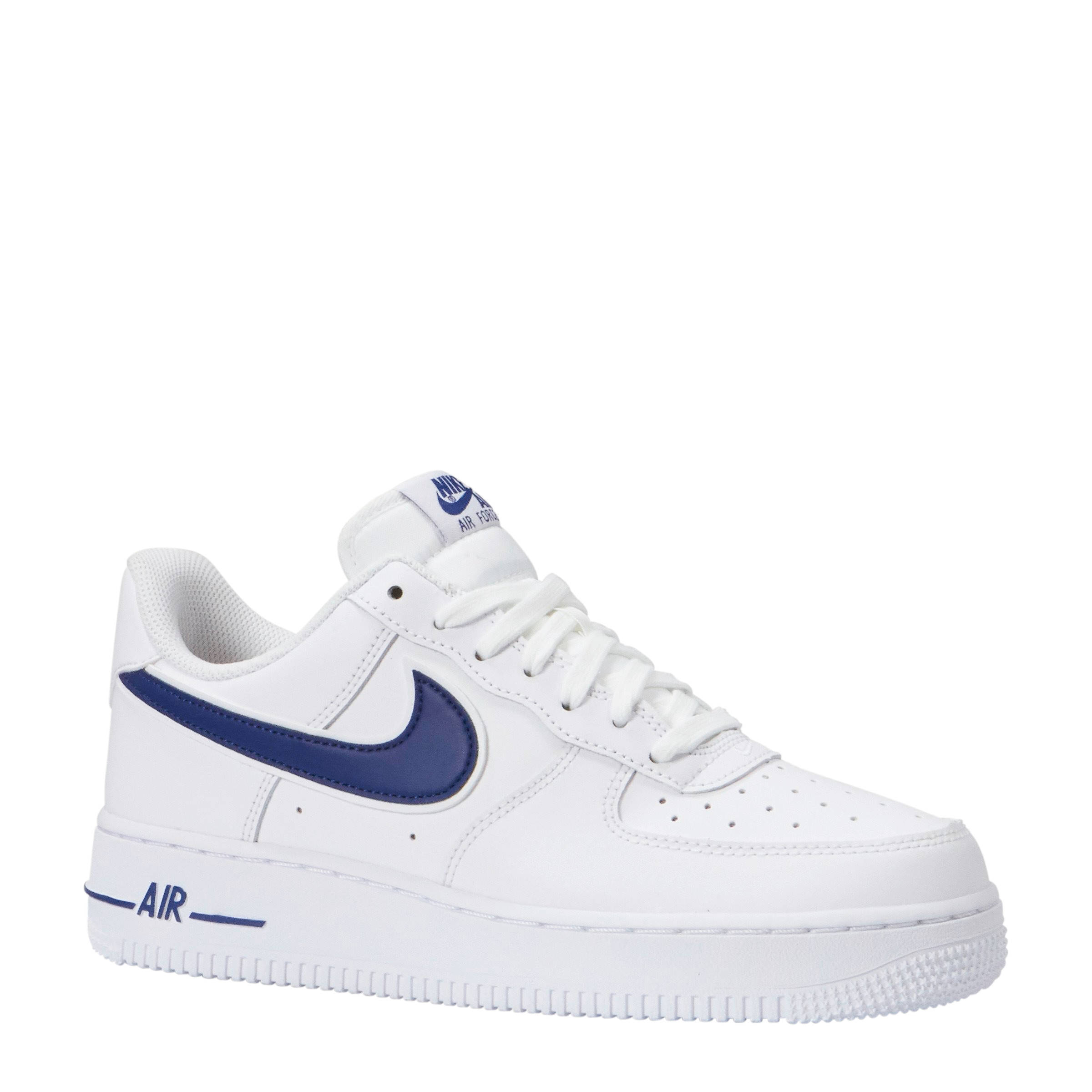 Nike Air Force 1 '07 3 sneakers leer wit/blauw | wehkamp