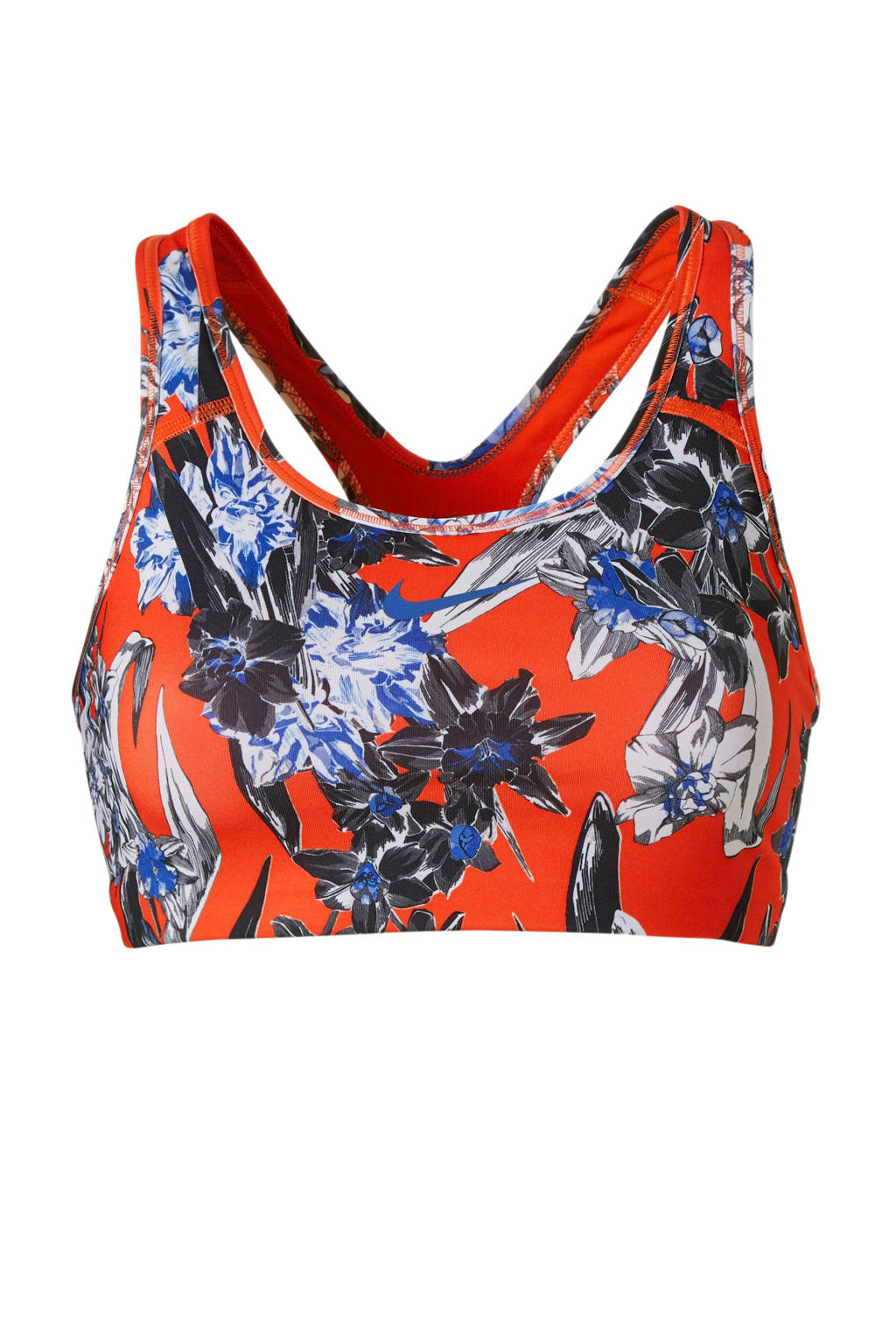Nike Level 4 sportbh met all over print rood, Rood
