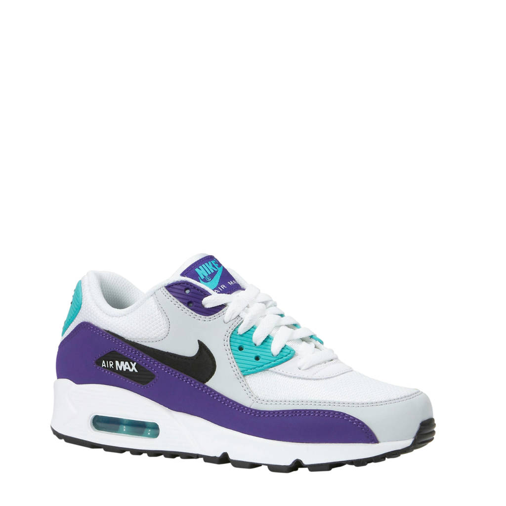 382c67988f3 Nike Air Max 90 Essential sneakers, Wit/paars/groen