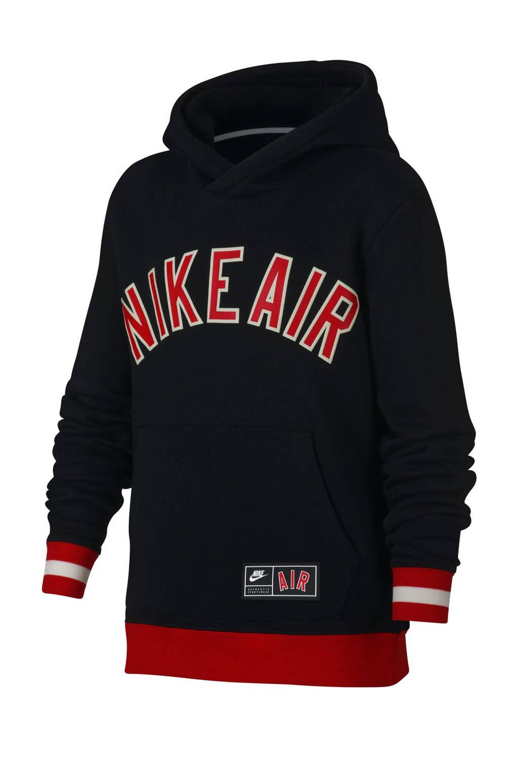 Nike   sportsweater met printopdruk zwart/rood, Zwart/rood