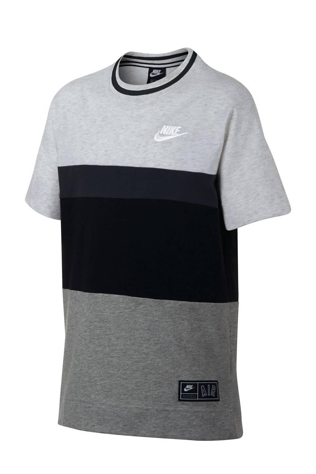 Nike   T-shirt wit/grijs/zwart, Wit/grijs/zwart